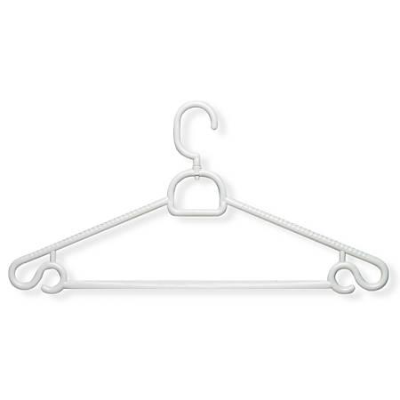 Honey-Can-Do Heavyweight Swivel Hangers, White, Pack Of 30