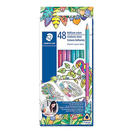 Staedtler® Duo Ended Color Pencils, Assorted Colors, Box Of 24