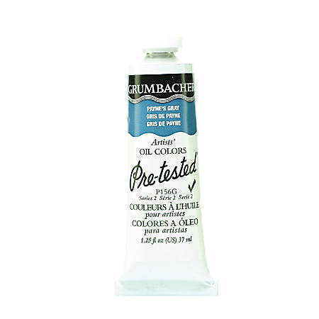 Grumbacher P156 Pre-Tested Artists' Oil Colors, 1.25 Oz, Payne's Gray, Pack Of 2