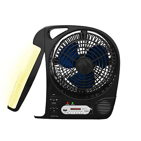 "Technical Pro Adventure Series Rechargeable 8"" Camping Fan, 13""H x 4 1/2""W x 12 1/2""D, Black"