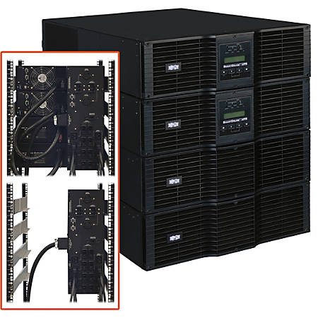 Tripp Lite UPS Smart Online 16000VA 14400W Rackmount 16kVA 208/240V Manual Bypass Hot Swap USB DB9 12URM - 12U Rack/Tower - 8 Hour Recharge - 5.50 Minute Stand-by - 220 V AC Input - 200 V AC, 208 V AC, 220 V AC, 230 V AC, 240 V AC Output - 8 x NEMA L6-20R
