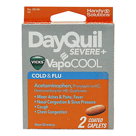 DayQuil VapoCOOL Cold & Flu Relief Medicine, Pack Of 2 Caplets