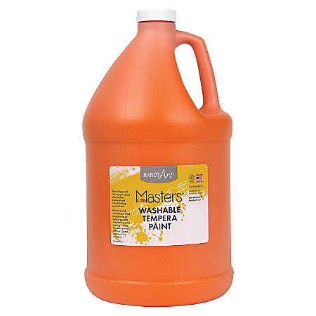 Handy Art L.Masters Washable Tempera Paint Gallon - 1 gal - 1 Each - Orange
