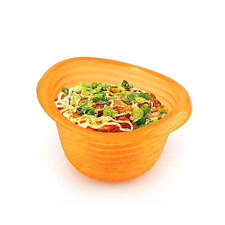 INNOKA Miniature Silicone Melting Chocolate Cheese Pot, Translucent Orange