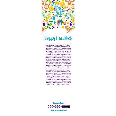Vertical Banner Template, Hanukkah Art