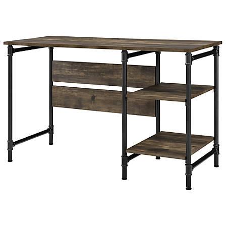 Ameriwood™ Home Carter Single-Pedestal Desk, Rustic