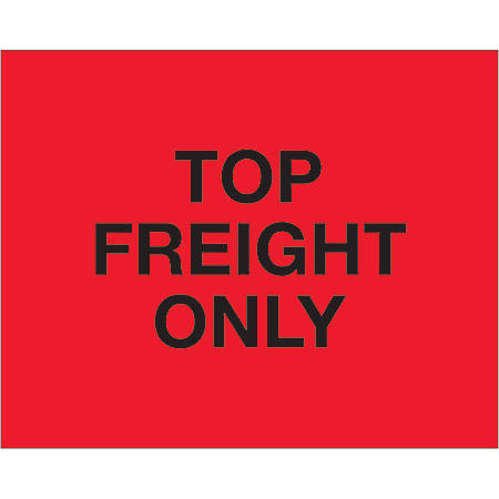 "Tape Logic® Preprinted Pallet Protection Labels, DL1229, 8"" x 10"", ""Top Load Freight Only"", Fluorescent Red, Roll Of 250"