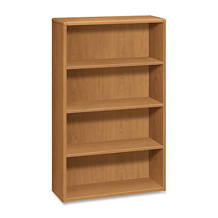 HON® 10700 Series™ Prestigious Laminate 4-Shelf Bookcase, Harvest Cherry