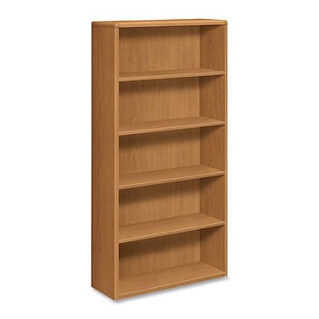 HON® 10700 Series™ Prestigious Laminate 5-Shelf Bookcase, Harvest Cherry