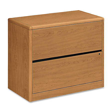 "HON® 10700 Series™ Lateral File, 2 Drawers, 29 1/2""H x 36""W x 20""D, Harvest Cherry"
