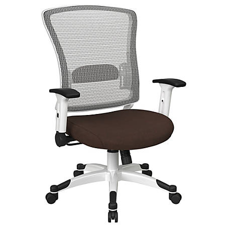 Office Star™ Space Seating Mesh Mid-Back Chair, Cocoa/White