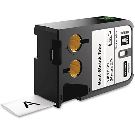 "DYMO® XTL Heat-Shrink Tube Cartridge, DYM1868811, Permanent Adhesive, 1""W x 106 19/64""L, Thermal Transfer, Polyolefin"