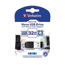 Verbatim Nano USB 20 Drive With