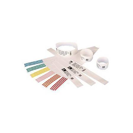 "Zebra Wristband Polypropylene 1 x 6in Direct Thermal Zebra Z-Band Direct HC100 - 1"" Width x 7"" Length - 300/Roll - 1800 / Case - Black, White"