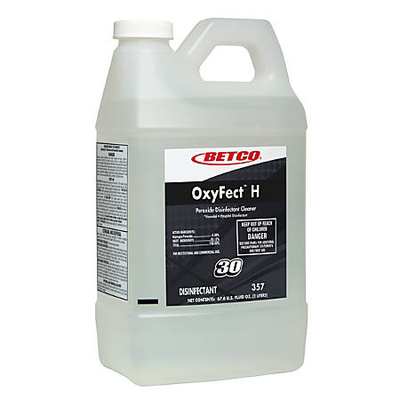Betco® OxyFect™ H Peroxide Disinfectant, Mint Scent, 67.6 Oz, Pack Of 4 Containers
