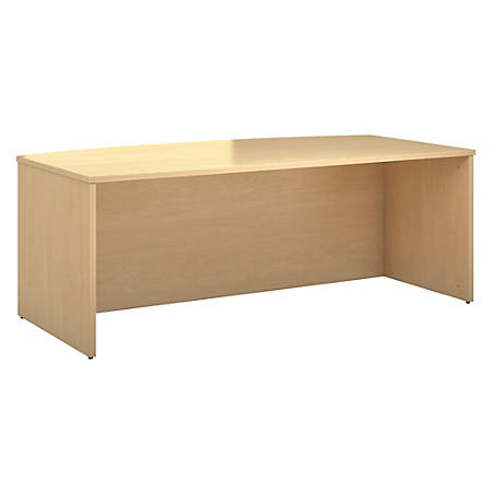"Bush Business Furniture 300 Series Bow Front Desk, 72""W, Natural Maple, Standard Delivery"
