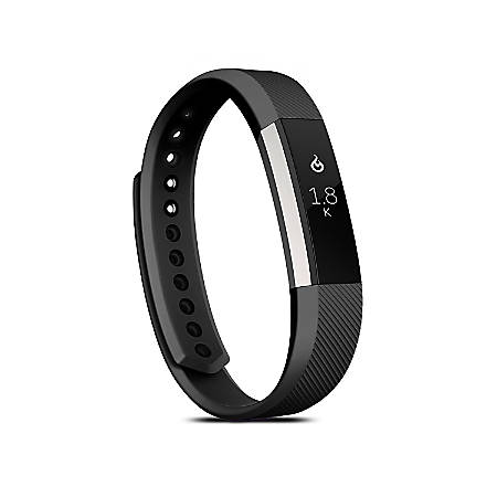 Zodaca Replacement Wristband With Clasp For Fitbit Alta/Alta HR, Large Black