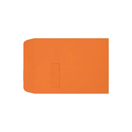 """LUX Open-End Window Envelopes With Peel & Press Closure, #9 1/2, 9"""" x 12"""", Mandarin, Pack Of 50"""