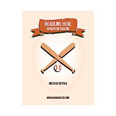 Custom Flyer Vertical Baseball