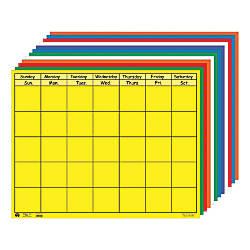 Creative Shapes Horizontal Calendars 28 x