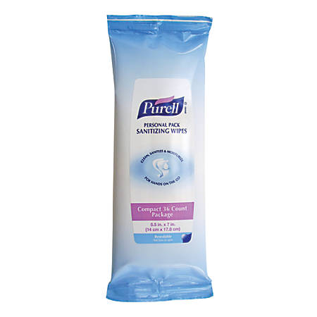 Purell® Sanitizing Wipes, Pack Of 36