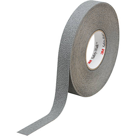 "3M™ 370 Safety-Walk Tape, 3"" Core, 1"" x 60', Gray, Pack Of 4"