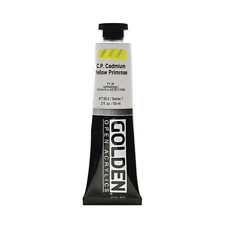 Golden OPEN Acrylic Paint, 2 Oz Tube, Cadmium Yellow Primrose (CP)