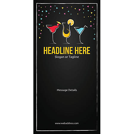 Custom Vertical Display Banner, Cocktail Party