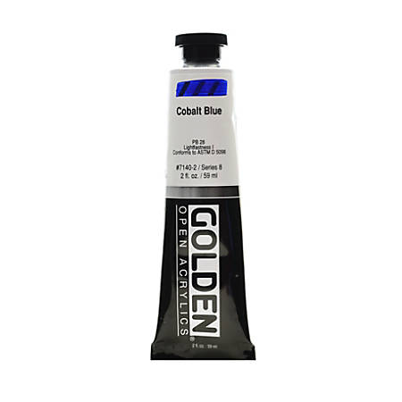 Golden OPEN Acrylic Paint, 2 Oz Tube, Cobalt Blue