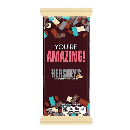Hershey's® Milk Chocolate With Almonds Appreciation XL Bars, 4.25 Oz, Box Of 12