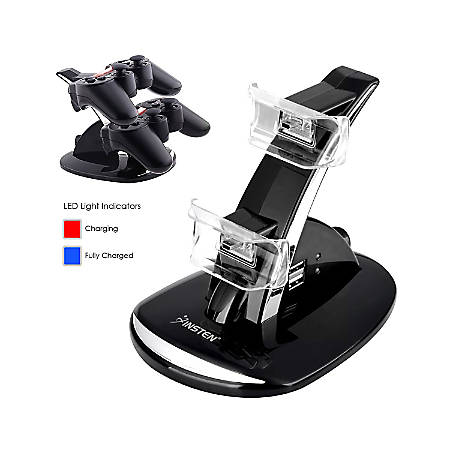 Insten Dual Charge Station With Stand For Sony PlayStation 3 PS3 Controller, Black