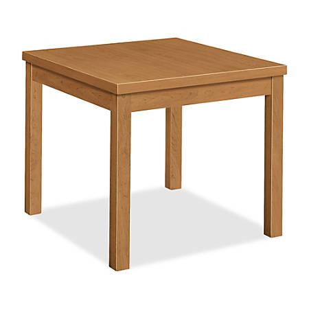 HON Laminate Occasional Corner Table, Harvest