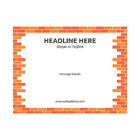 Custom Flyer, Horizontal, Brick Wall