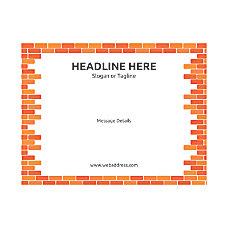 Custom Flyer Horizontal Brick Wall