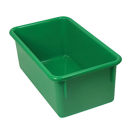 "Stowaway® Storage Container, No Lid, 5 1/2""H x 8""W x 13 1/2""D, Green, Pack Of 5"