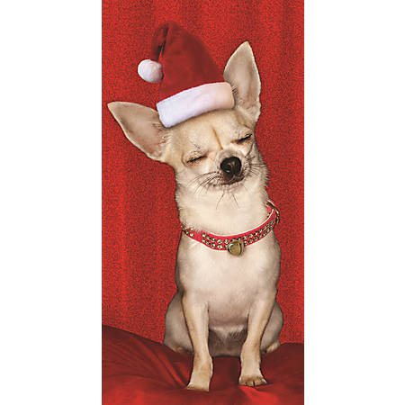 Viabella holiday greeting cards 3 12 x 7 closed eye dog pack of 4 viabella holiday greeting cards 3 12 m4hsunfo