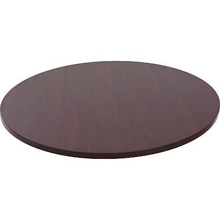 "Lorell® Round Adjustable-Height Table Top, 35 1/2""W, Mahogany"