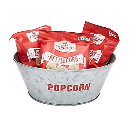 "Mind Reader Stainless Steel Popcorn Bowl, 4-1/4"" x 10"""