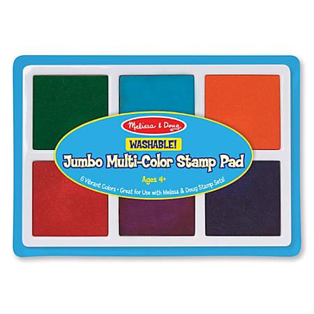 Melissa & Doug Jumbo Multicolor Stamp Pad, Pre-K To Grade 1