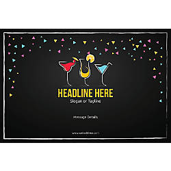 Custom Poster Cocktail Party Horizontal