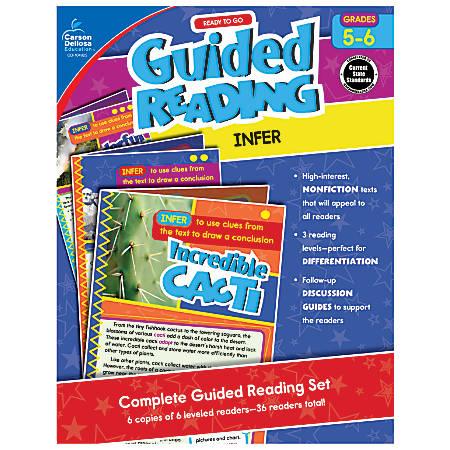Carson-Dellosa Ready-To-Go Guided Reading, Infer, Grades 5 - 6