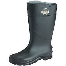 STEEL TOE PVC SAFETY PACBOOTS BLACK