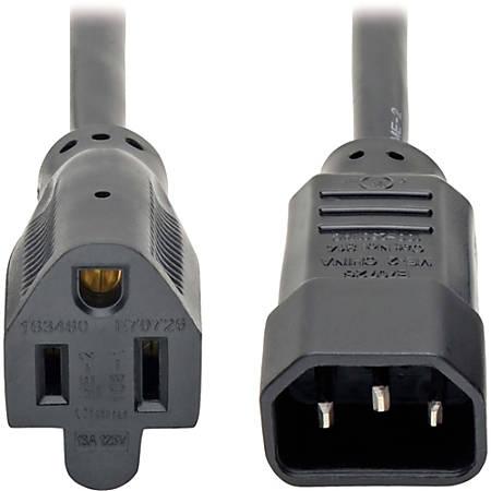 Tripp Lite Standard Computer Power Cord - 10A,18AWG (IEC-320-C14 to NEMA 5-15R) 2-ft.