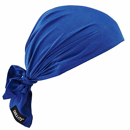 Ergodyne Chill-Its 6710 Evaporative Cooling Triangle Hats, Blue, Case Of 24 Hats