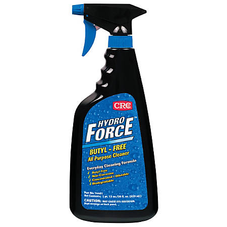 CRC HydroForce® Butyl-Free All-Purpose Cleaner, 30 Oz Trigger Bottle, Blue