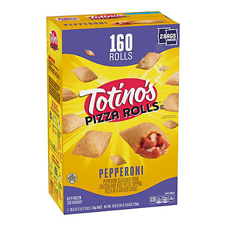 Totino's Pepperoni Pizza Rolls, 79.68 Oz, Box Of 160 Pizza Rolls