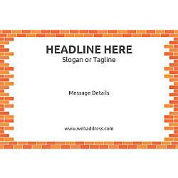 Adhesive Sign Bricks Horizontal