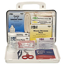 WEATHERPROOF PLASTIC 25PERSON IND FIRST AID