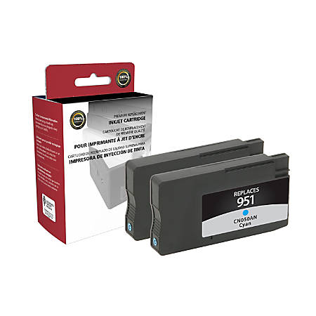 Clover Technologies Group OD951CX2 Remanufactured Ink Cartridge Replacement For HP 951 Cyan, Pack Of 2