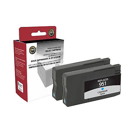 Clover Technologies Group™ OD951CX2 (HP 951 / CN050AN) Remanufactured Cyan Ink Cartridges, Pack Of 2 Cartridges
